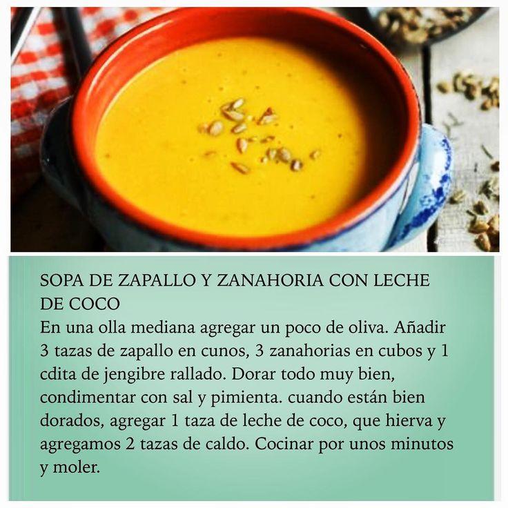 Sopa de Zapallo y Zanahoria con leche de coco @oasisfmchile #RutaOasis