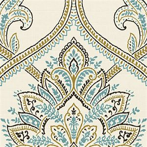 Charmant Penelope Nutmeg Beautiful Blue And Gold Floral Drapery Fabric By Belle  Maison. This Fabric Is Perfect For Any Home Decorating Double RubsMinimum  15 Yard