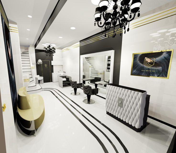 9 best images about sallon de coiffure design on pinterest for Salon de dubai