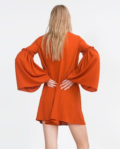 ZARA - TRF - BELL SLEEVE DRESS