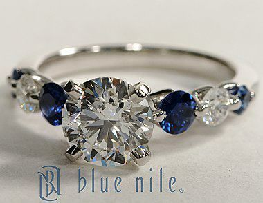 Floating Sapphire and Diamond Engagement Ring...forget engagement ring can I just have this because?!