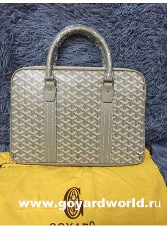 Goyard Briefacase Porte Document Bag Light Grey