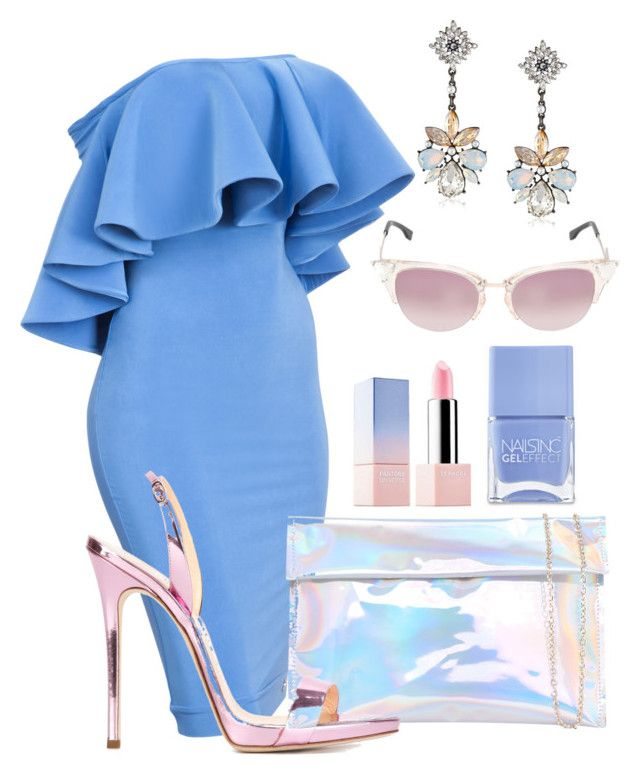 """Cotton Candyish"" by perichaze ❤ liked on Polyvore featuring Giuseppe Zanotti, Nails Inc., Fendi, women's clothing, women, female, woman, misses and juniors"