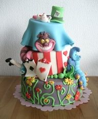 how to make an alice in wonderland cake for beginners - Google Search