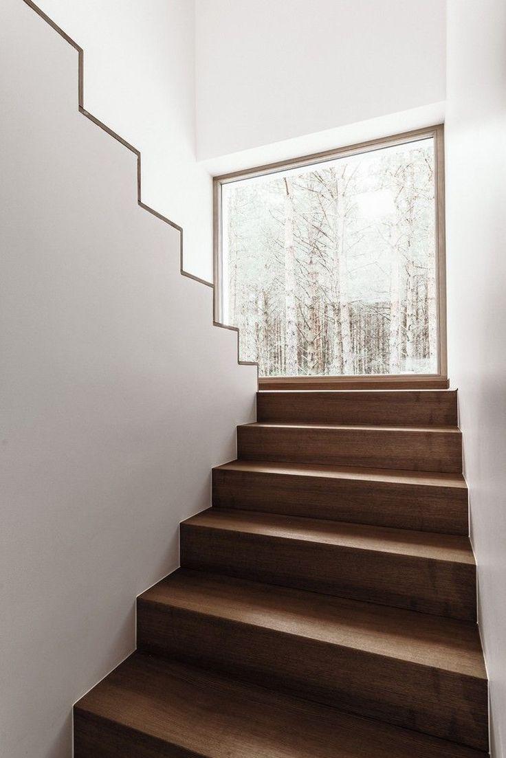 escalier minimaliste intérieur bois fascinant #design #interiors