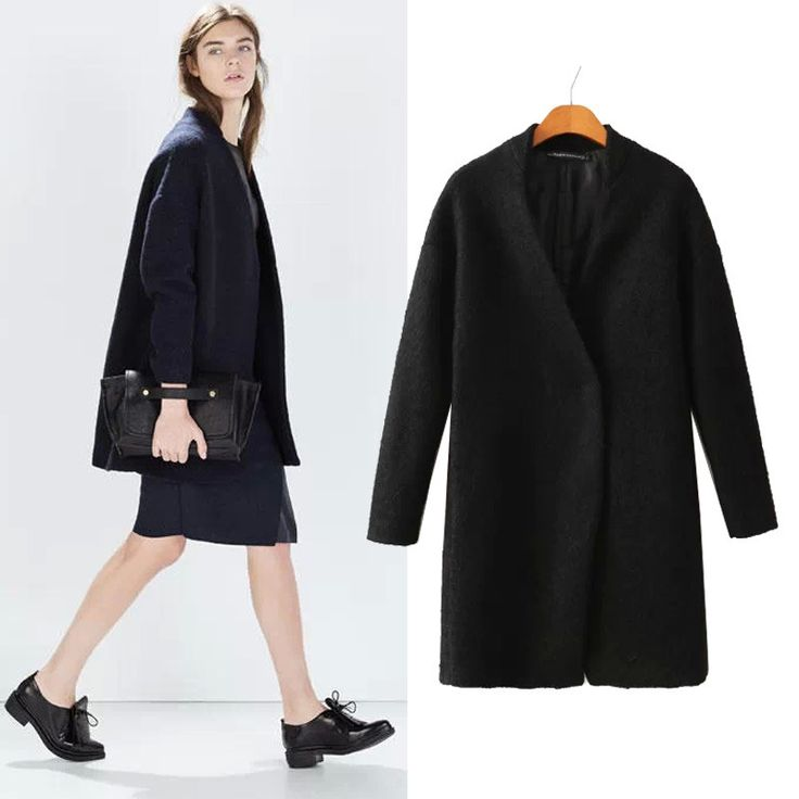 >> Click to Buy << Factory Direct Europe New Hot Women Coat Fashion Simple V-neck Slim Thin Woolen Coat Jacket Windbreaker Outerwear Free Shipping #Affiliate