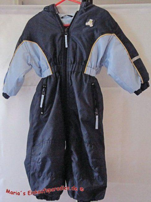 Port Louis Baby Schneeanzug mit Kapuze Blau/Dunkelblau Gr. 80 - Diesen und weitere Artikel finden Sie bei Marias-Einkaufsparadies.de! (www.marias-einkaufsparadies.de)