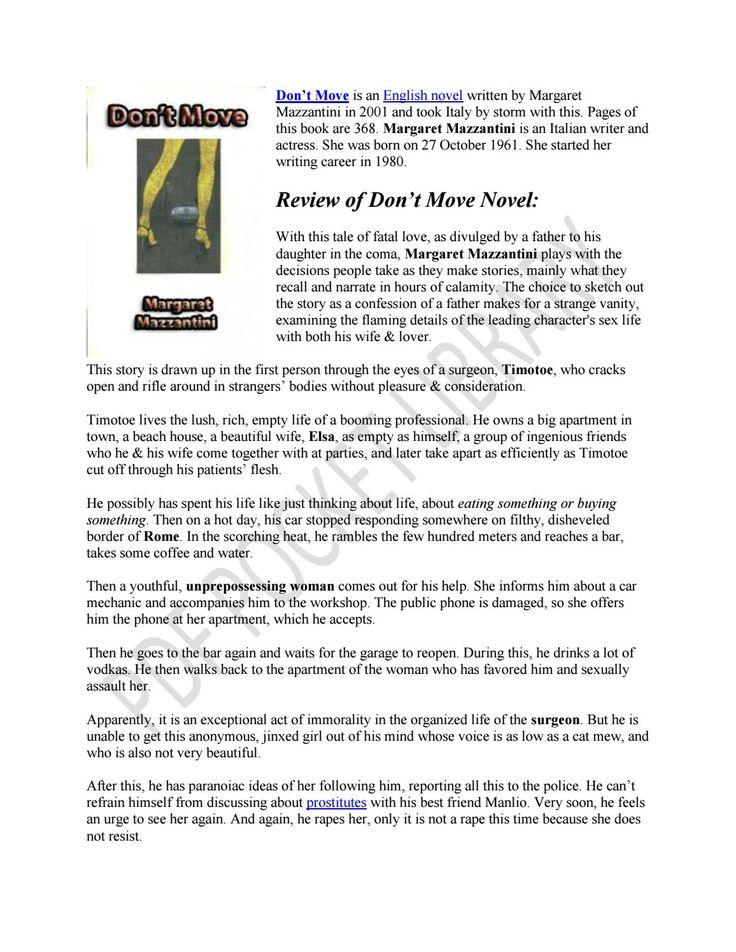 21 best english novels images on pinterest english novels pdf and dont move by margaret mazzantini fandeluxe Choice Image