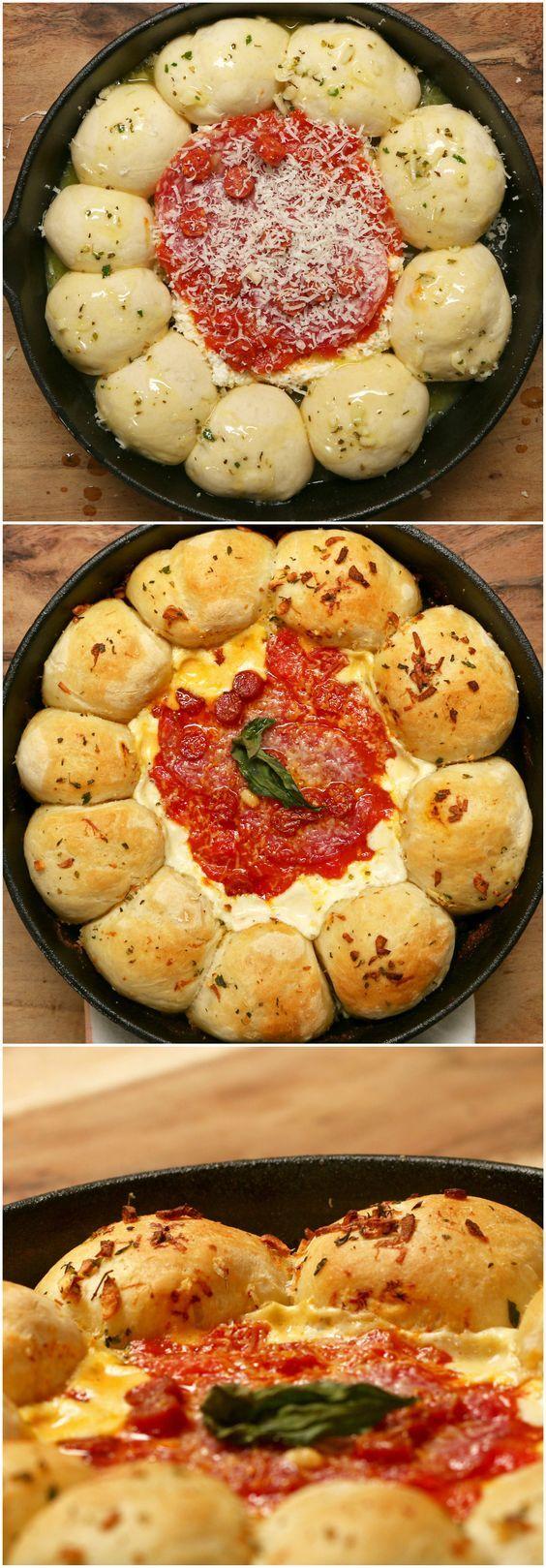Pizza Dip With Dough Balls: