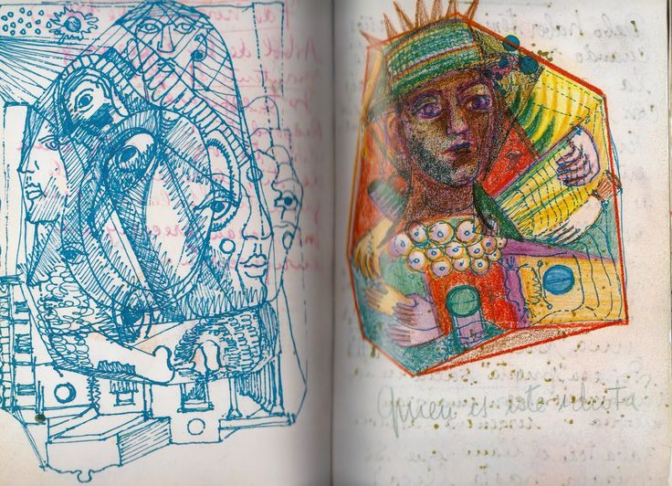 Alice Dansey-Wright- Drawings and text from Frida's Diary