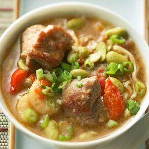 Pork and Edamame SoupLow Carb, Crock Pots, Slow Cooker Soup, Edamame Soup, Food, Diabetes Living, Soup Recipe, Cooking, Slow Cooker Pork