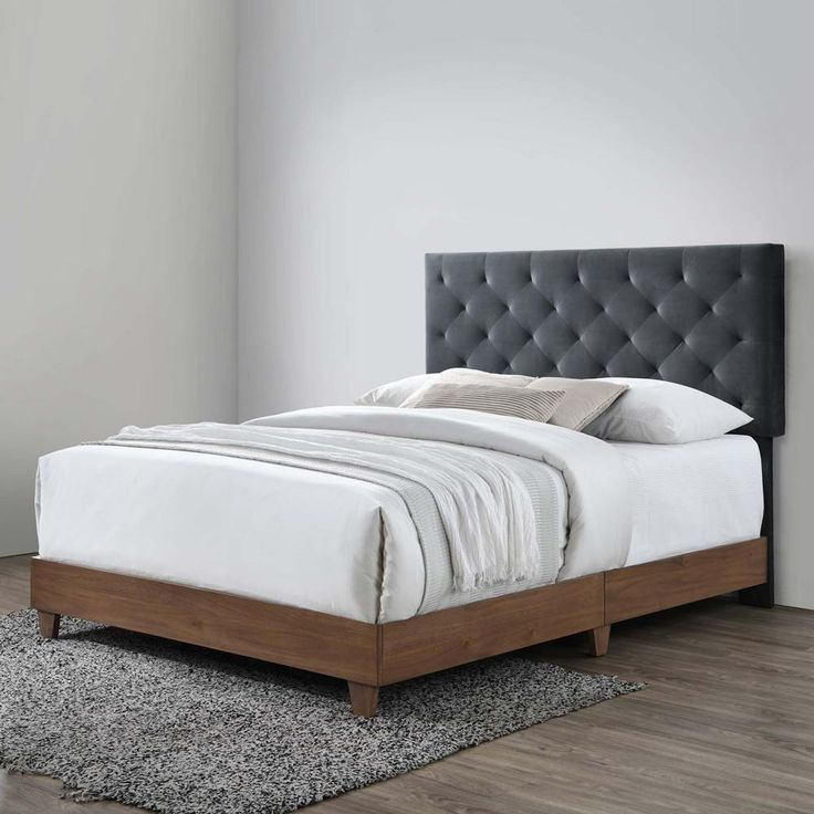 Upholstered Beds Grey In 2020 Queen Upholstered Bed Upholstered Bed Master Bedroom Upholstered Beds