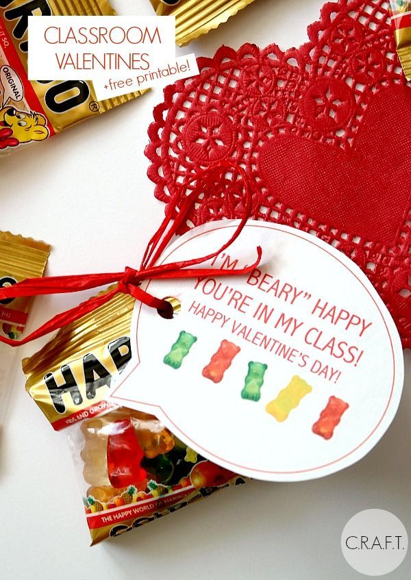 I'm beary happy we are in the same class! Free printable... perfect for the ...