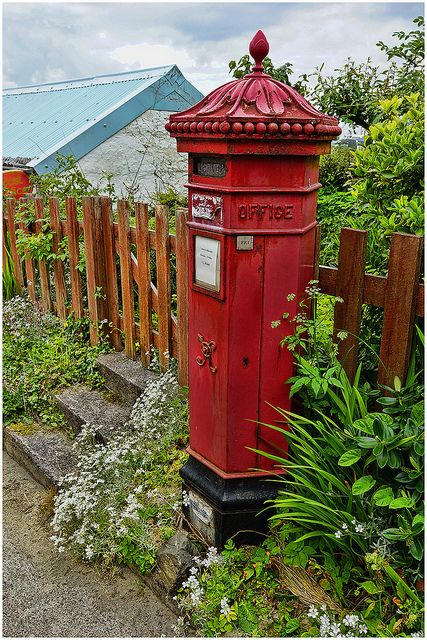 Victorian pillar box. Iona, Scottish Island.  ...♥♥... You have to really work to get to Iona. It is far off the beaten path, but totally worth the time and effort.