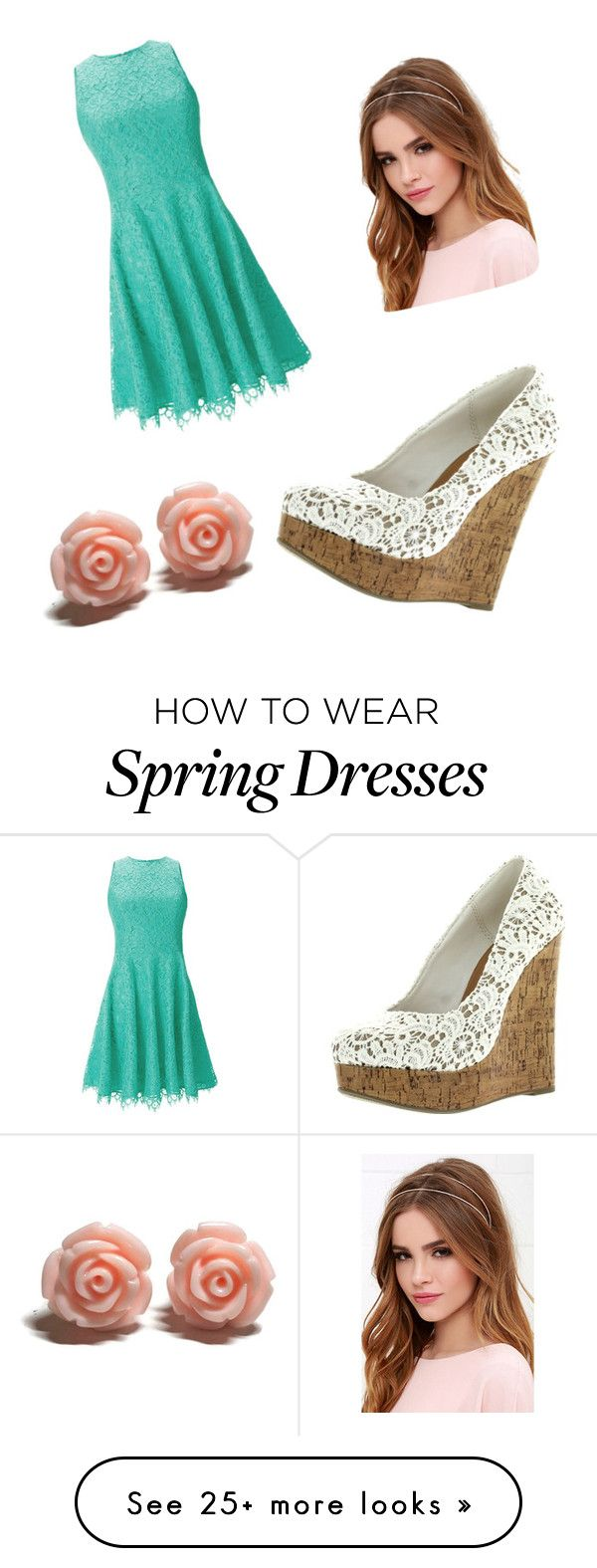 """""""spring"""" by sillykate on Polyvore featuring Shoshanna, Lulu*s, women's clothing, women's fashion, women, female, woman, misses and juniors"""