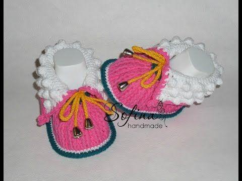 Пинетки ботиночки крючком мастер класс - Вязание - Страна Мам