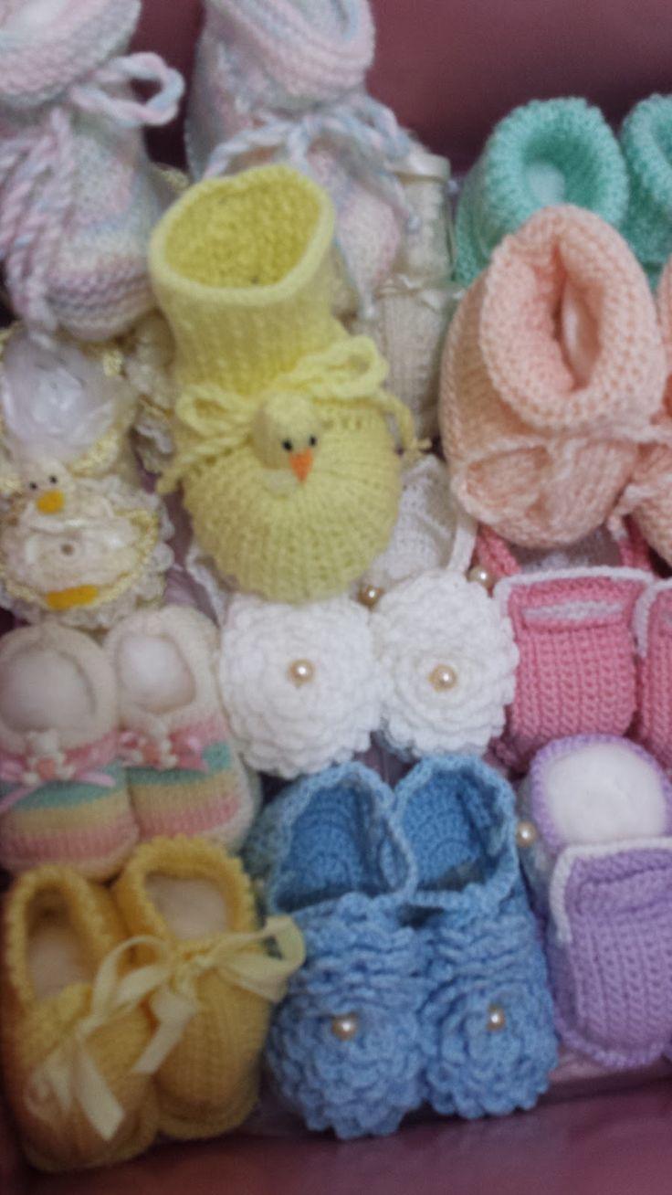 Toca do tricot e crochet: Fábrica de sapatinhos de bebê !!!