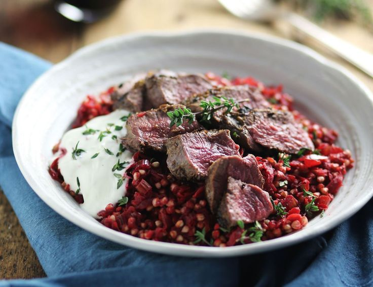 Venison Steaks with Ruby Buckwheat Risotto Recipe | Abel