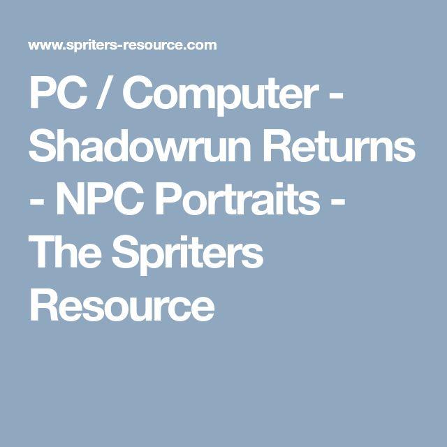 PC / Computer - Shadowrun Returns - NPC Portraits - The Spriters Resource