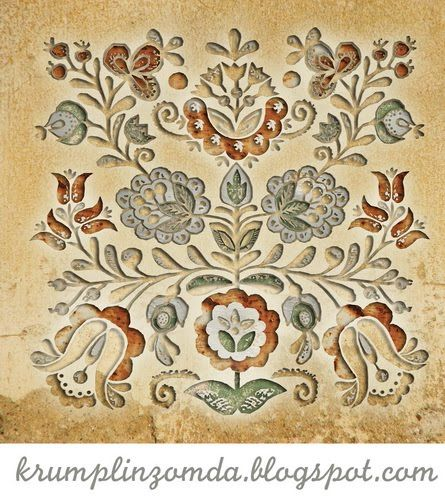 Hungarian(Kalotaszegi) Flowers embroidery patterns