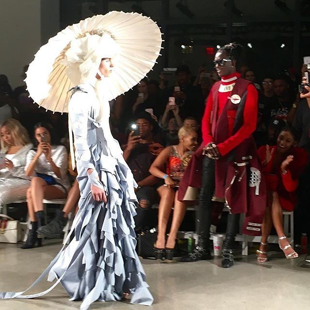 Young Thug Is Fashion Week's Most Enthusiastic Guest