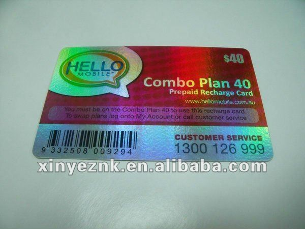 individualized plastic international calling cards sample