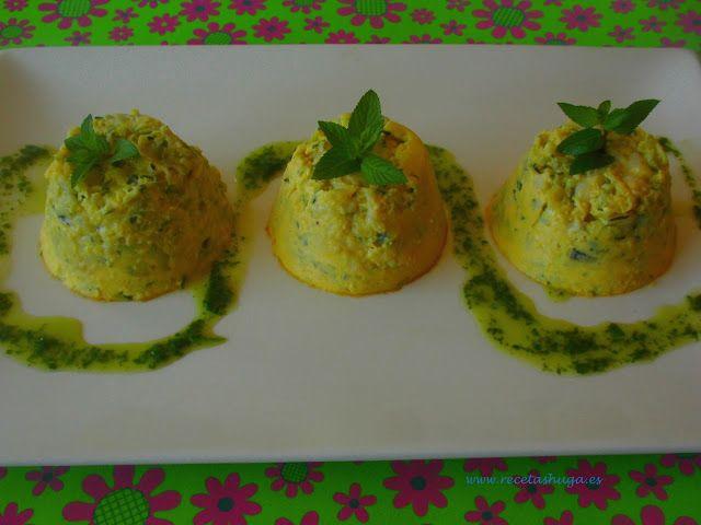 Flanes de Calabacín #recetas #hortalizas @Recetas Huga