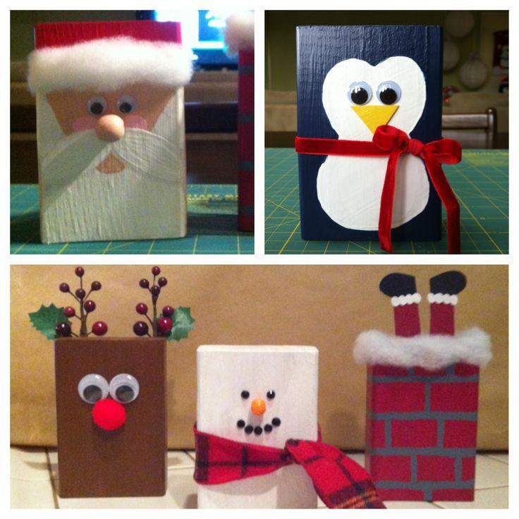 christmas wood block friends