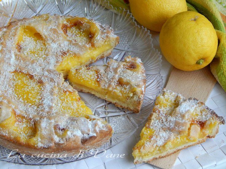 crostata limone e cocco..