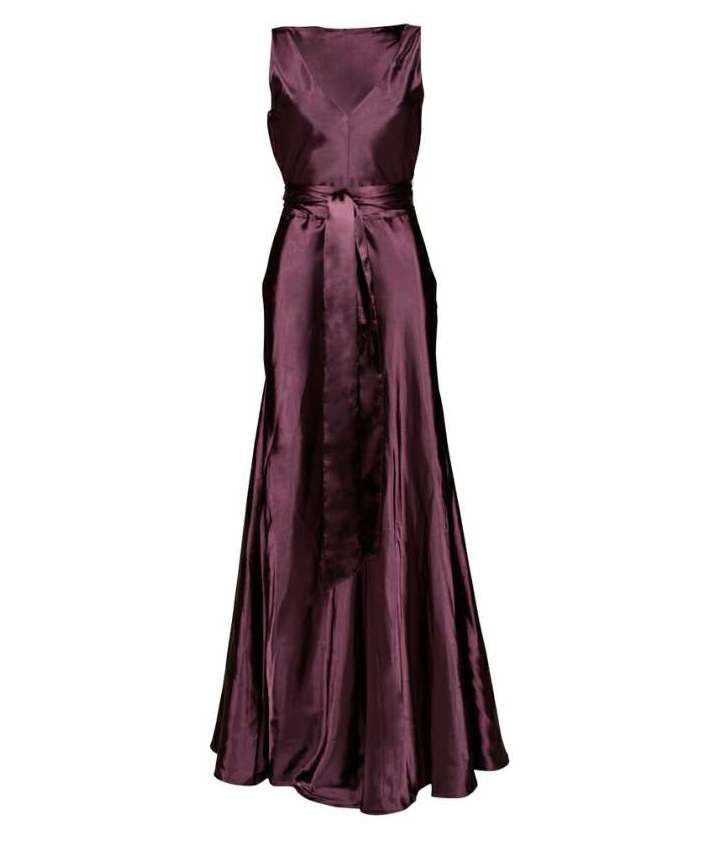 Carolina Bias Purple Ball Gown Dress