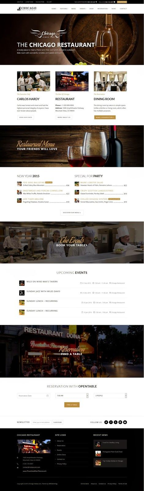 Versatile Restaurant and Cafe WordPress Themes 2015 #bar #bistro #website