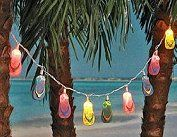 Flip Flop Light Sets - Fun Beach Theme Bedroom Decor Ideas. surfing beach…