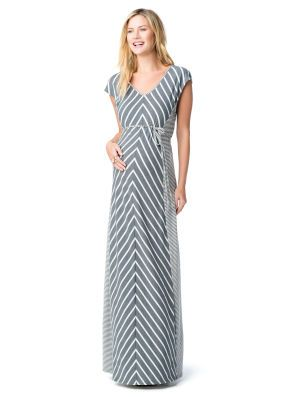 Motherhood Maternity Jessica Simpson Cap Sleeve Tie Detail Maternity Maxi Dress