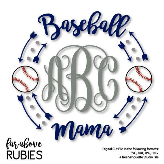 Baseball Mama Monogram Wreath with Arrows by faraboverubies