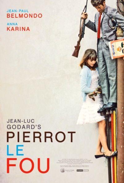 #25 Pierrot le fou.(Peter the crazy) Dir. Jean Luc Godard. 1965.Starring: Jean-Paul Belmondo, Anna Karina