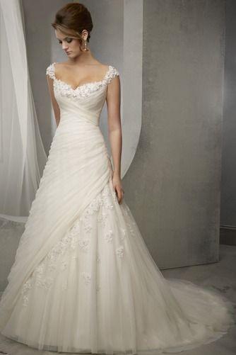 Escote cuadrado vestido de novia