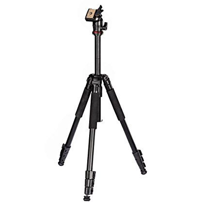 HAMA Traveller 163 Tripod With Carry Case.Reliable German Quality Control. Compact Aluminium Lightweight DSLR Camera Tripod And Video Tripod. Sturdy And Stable Tripod For Great Shots In Everyday Use and The Active Outdoors, Camping, Hiking and Travelling. Flexible 3D Head, Easy Level For The Perfect Shot. Quick Release Plate For Speedy Changeover. Portable Size With Case. Height Range 21-163CM / 9-64'' . Weight 1350gm / 3lbs. 2 Year Warranty. Ample Loading Options to 4KG