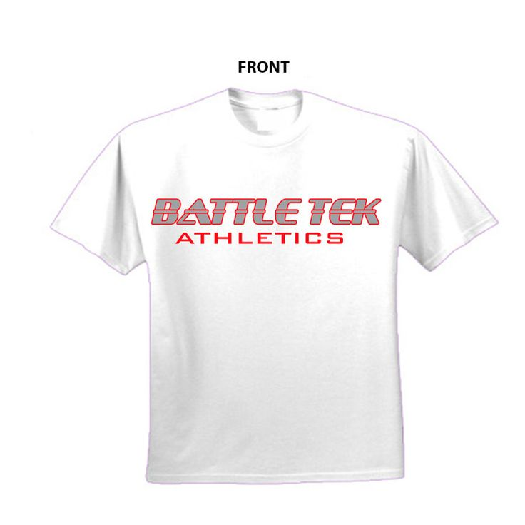 "Battle Tek Athletics ""XFE Cage Warrior"" performance T-shirt makes a bold statement about your competitive intentions. On the front of the shirt is ""Battle Tek Athletics!"" On the back is ""XFE Cage Warrior"" Click on the image for purchase information. If you have questions about team uniform packages, contact us at 1-866-713-7157 #sportstraining #wrestling #performancetee"