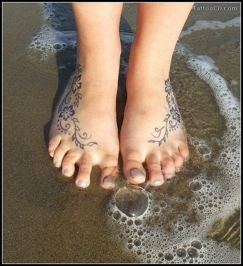 Image detail for -cool feet tattoos , foot tattoos design