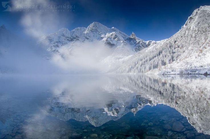 Morskie Oko - październikowy śnieg