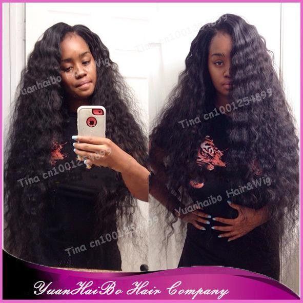 Дополнительные длинная 30  # 1b натуральная перуанский мелкие кудри парики на сетке спереди для черный женщины