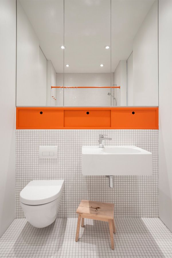 25 best ideas about orange bathrooms on pinterest for Washroom bathroom designs