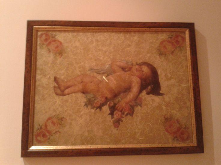 #decoupage #angeli #cherubini #quadro #hobby #decori #decorazioni