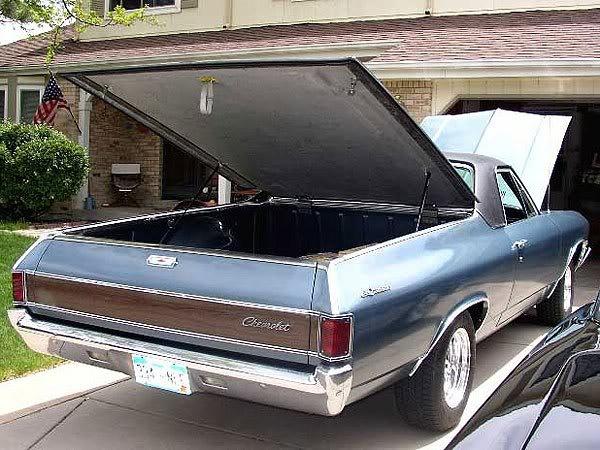 Chevy Gmc El Camino Tonneau Bed Cover Hard Fiberglass