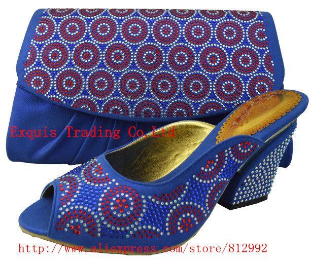 Новое поступление итальянская обувь и соответствующие сумки для женщин, синие каблуки женщины насосы бесплатная доставка, свадебные туфли 1308-25 Размер 38-43