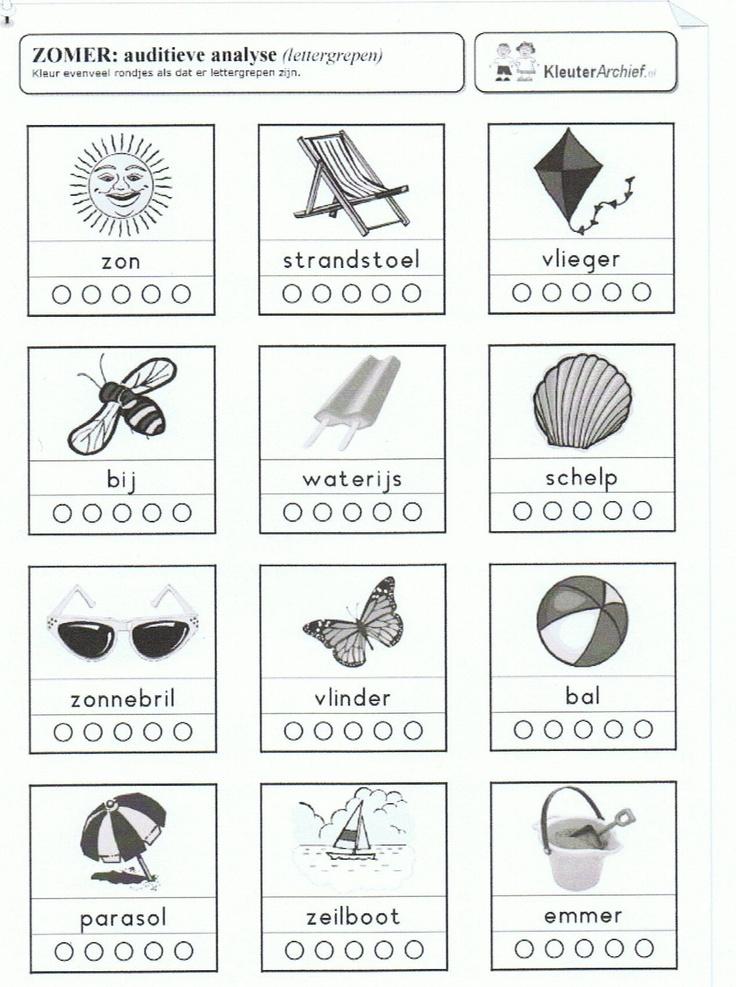 Aantal klankgroepjes bij woorden zomer.