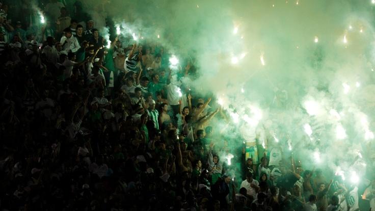 Torcida do Guarani faz a festa nas arquibancadas do estádio Brinco de Ouro | Leandro Moraes/UOL
