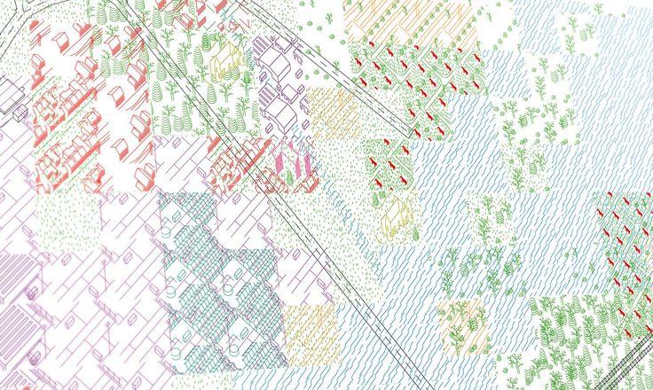 Ambition of the territory illustraties - Architectuur Biennale 2012 Venetië - Belgisch paviljoen - kaart van Belgie