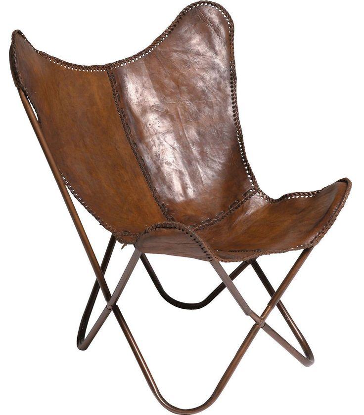 Vlinderstoel Leer - Kare Design