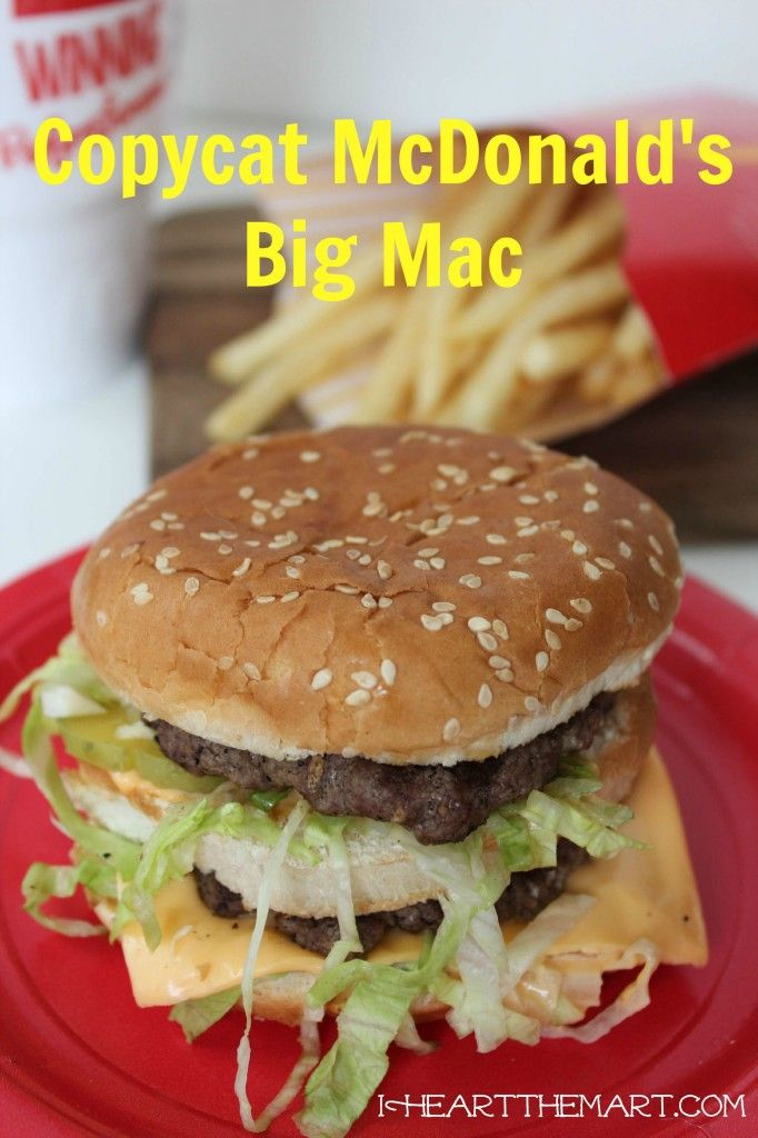 Two all beef patties, special sauce, lettuce, cheese…we all know how the jingle goes but do you know how to make a Copycat McDonald's Big Mac that you can enjoy at home (and know exactly what all the ingredients are)?   I'm going to give you the secret to making that perfect burger at home!